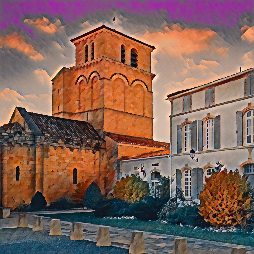 Archingeay - Eglise Saint-Martin et Mairie