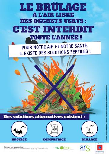 Brûlage des déchets verts en Charente-Maritime